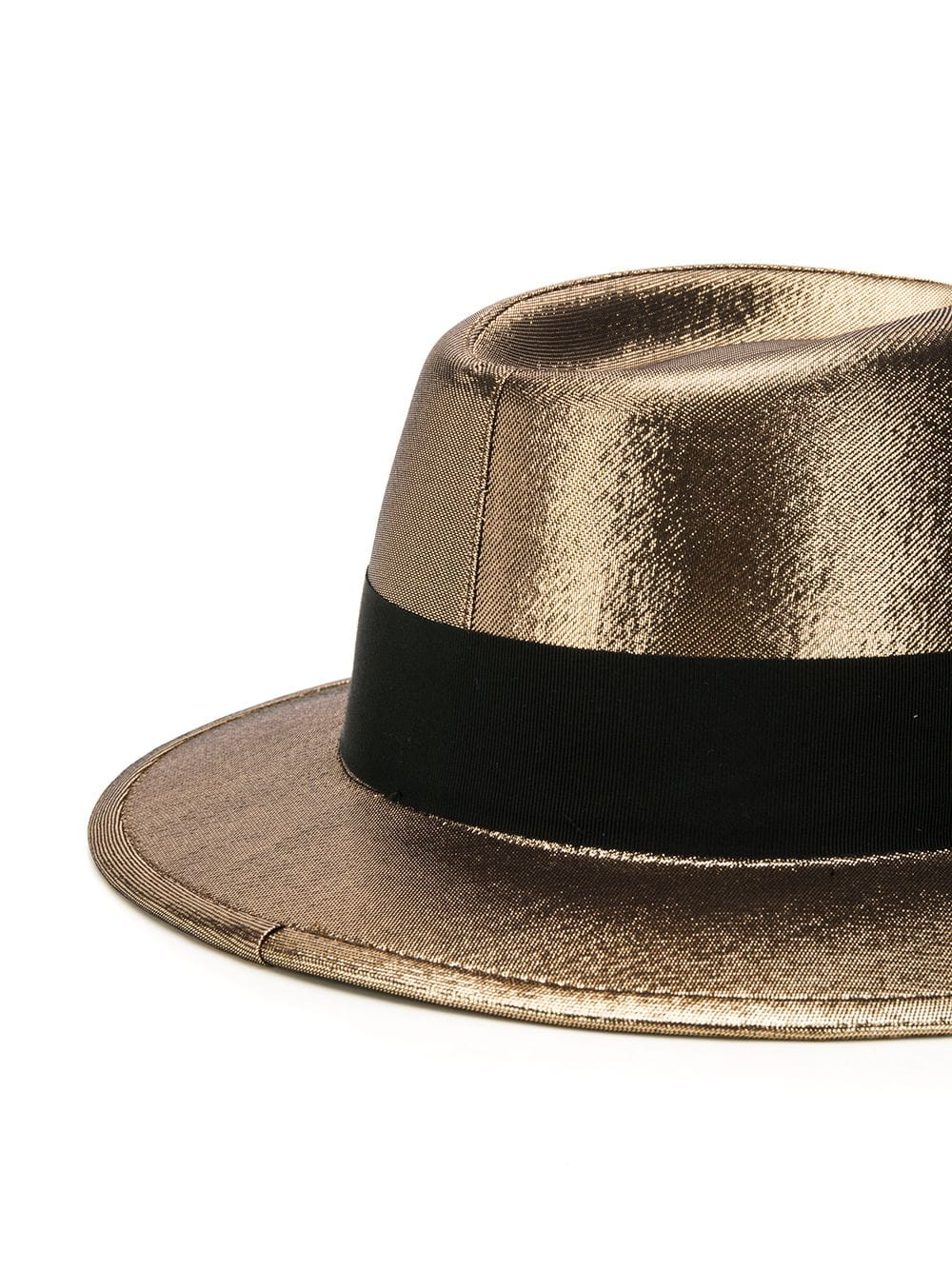 Metallic Trilby Hat - half view