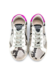 Kid's Distressed Snakeskin Sneakers