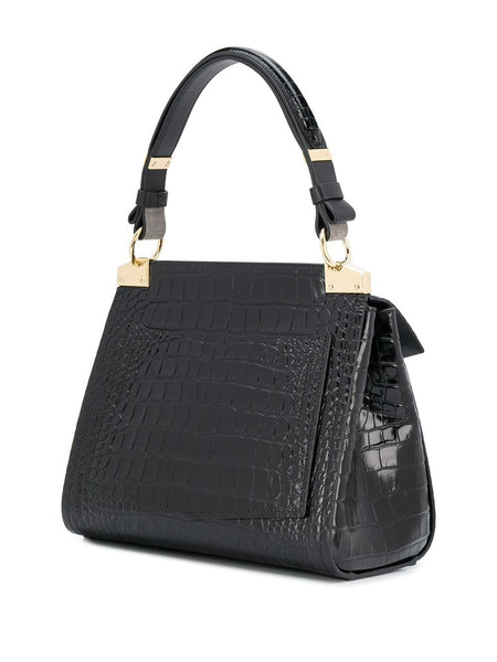 Mystic Embossed Crocodile Effect Bag back side view