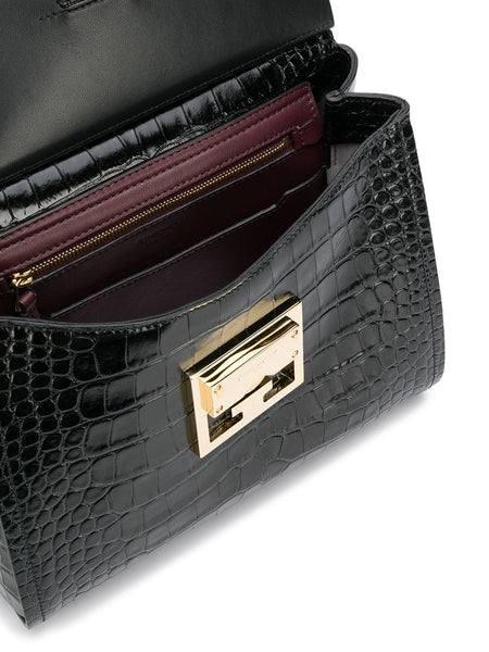 Mystic Embossed Crocodile Effect Bag - open view