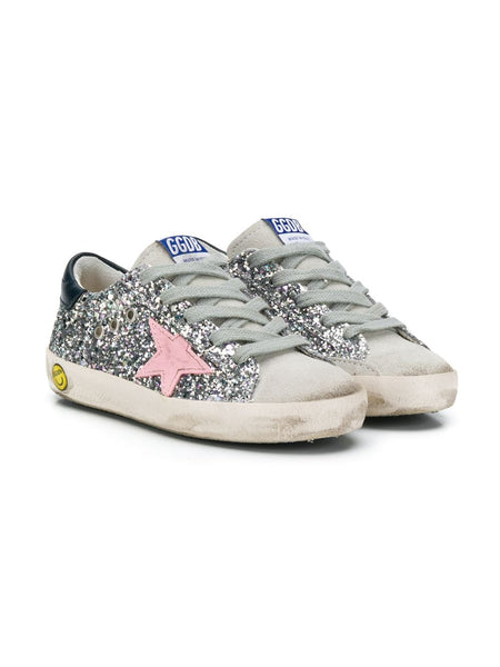 Kid's Superstar Glitter Sneakers