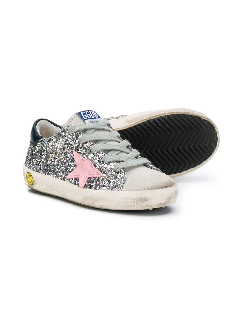 Kid's Superstar Glitter Sneakers Detail