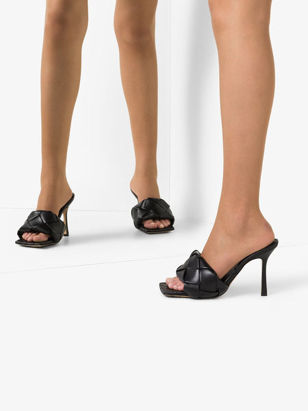 Lido Sandals Black In Mirror