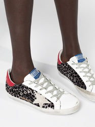 Superstar Leopard Print Sneakers On Model 2