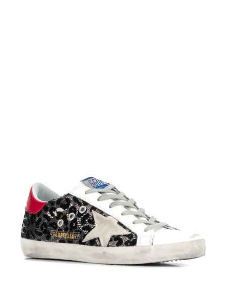 Superstar Leopard Print Sneakers 3/4