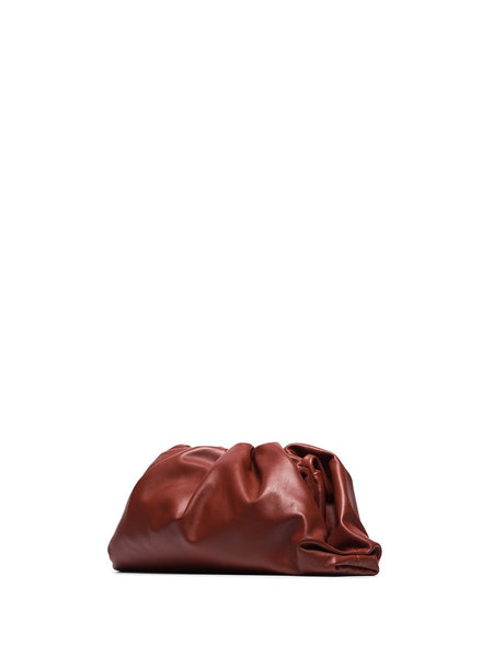 The Pouch Clutch Burgandy 3/4