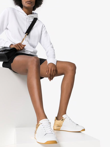 B-Court Two-Toned Sneakers Styled