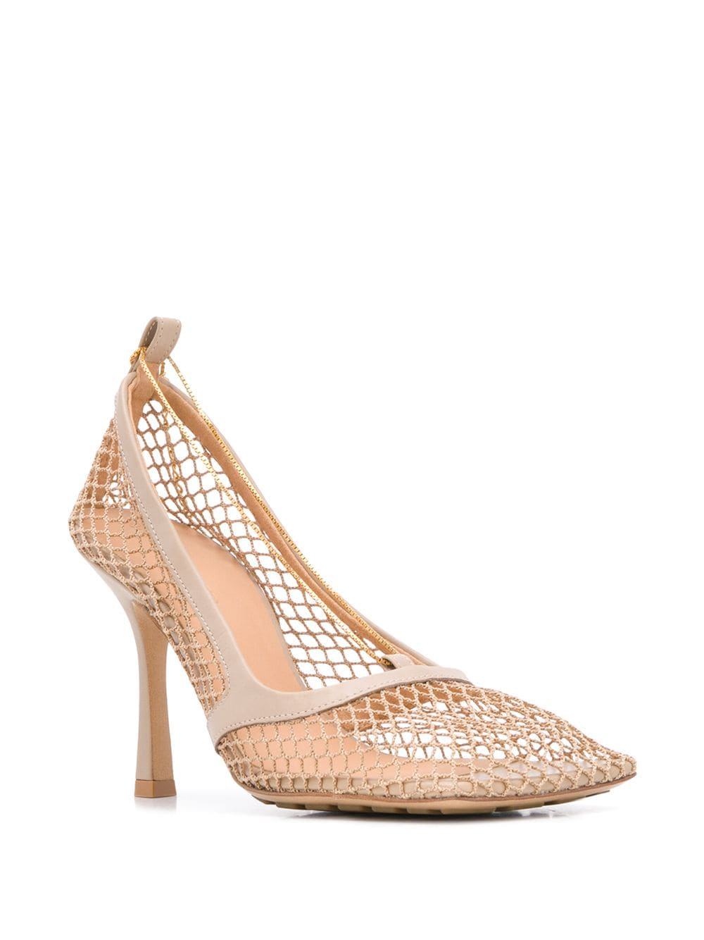 Chain-Embelished Mesh Pumps 3/4