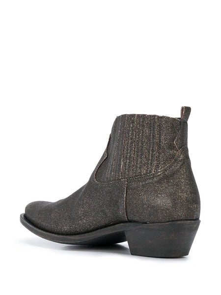 Crosby Sparkle-Effect Ankle Boots Inside Right