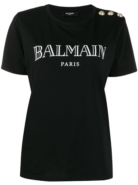 Logo Print T-Shirt Black