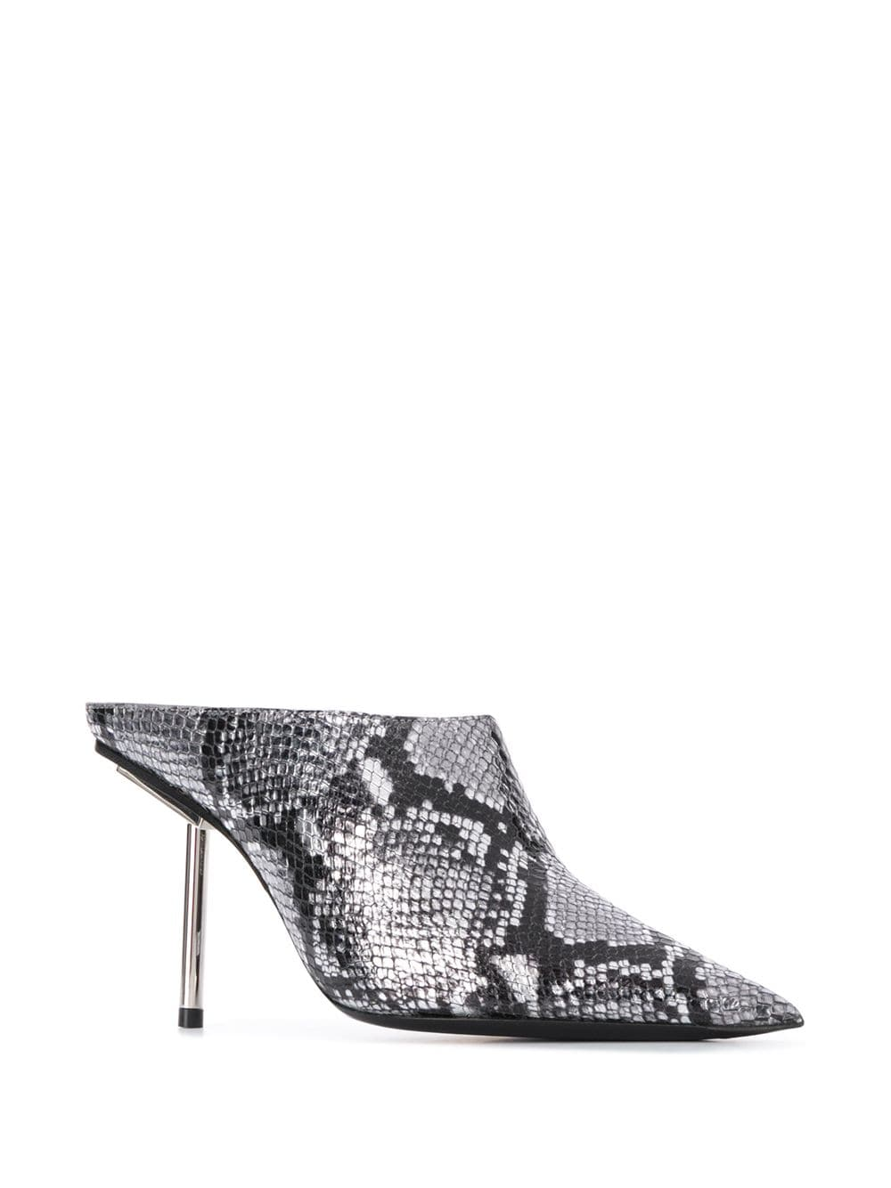 Snakeskin-effect 100 Mules (Right)