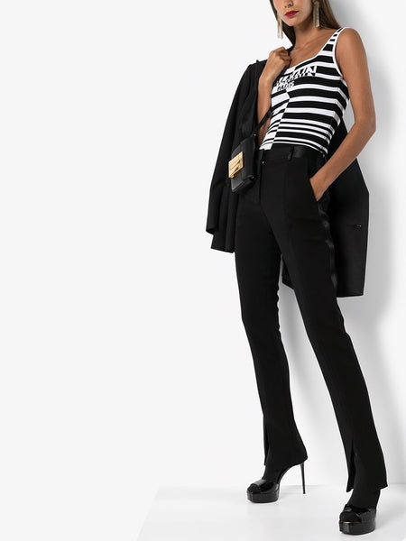 Striped Logo Bodysuit Styled