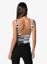 Striped Logo Bodysuit Back