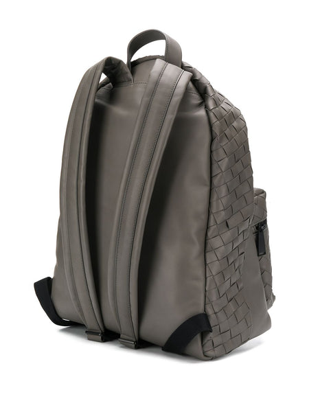 Intrecciato Weave Backpack Back