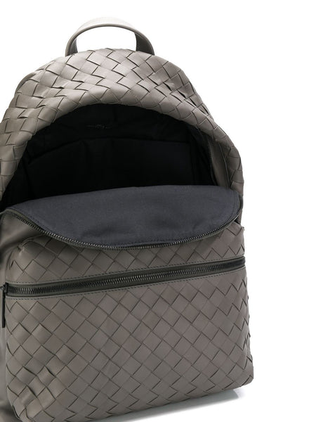 Intrecciato Weave Backpack Open