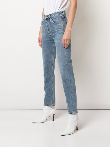 Mid Rise Skinny Jeans 3/4