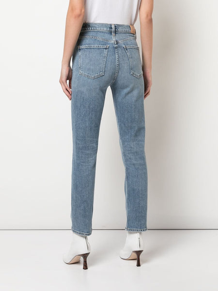 Mid Rise Skinny Jeans Back