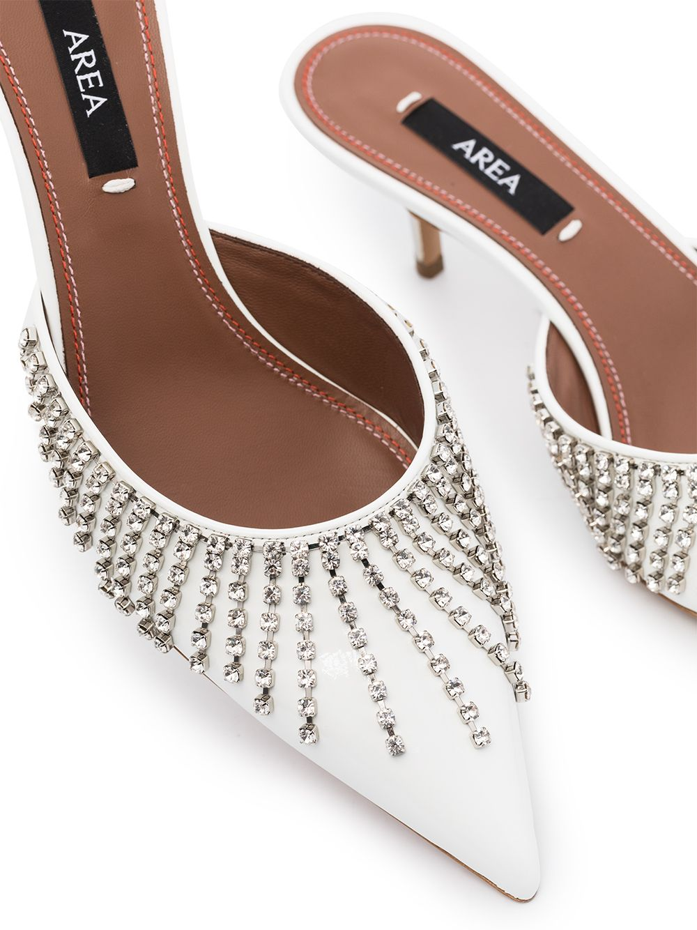 50mm Fringed Crystal-Embellished Mules Top