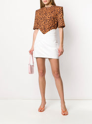 Structured Leopard Print T-shirt