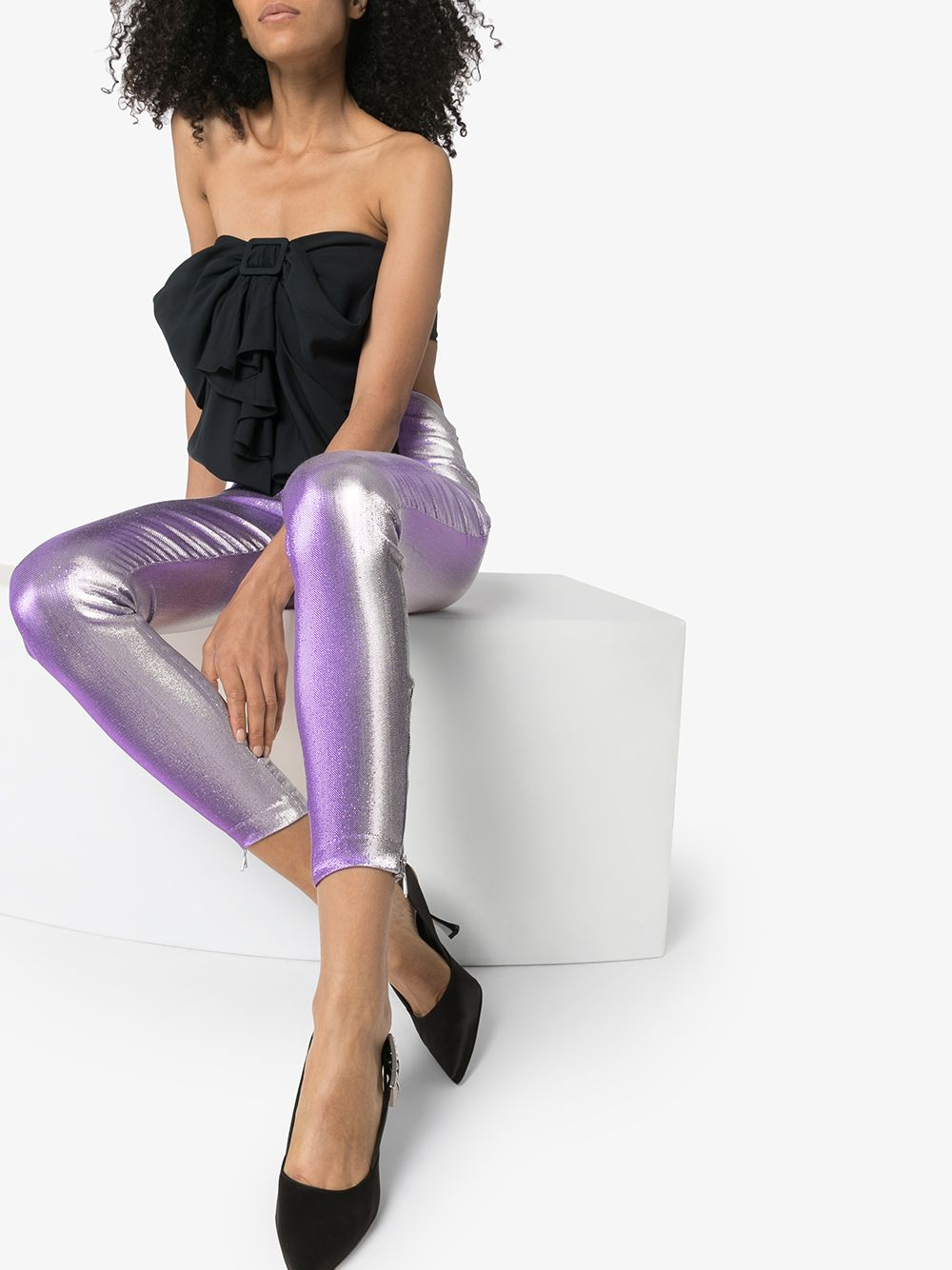 Iridescent Effect Leggings On Model