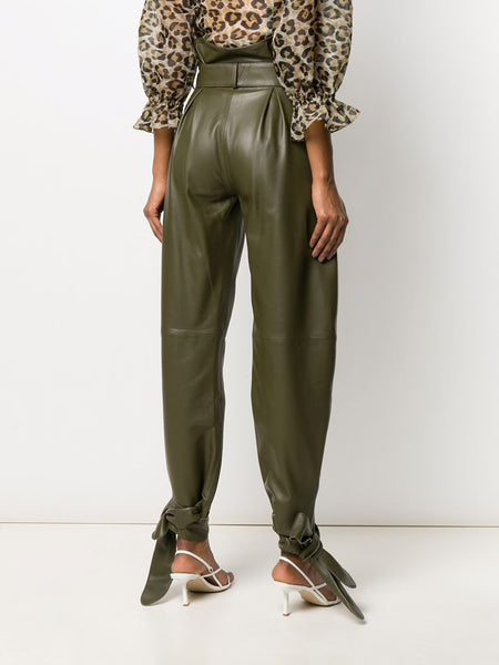 High Waisted Knot Detail Pants