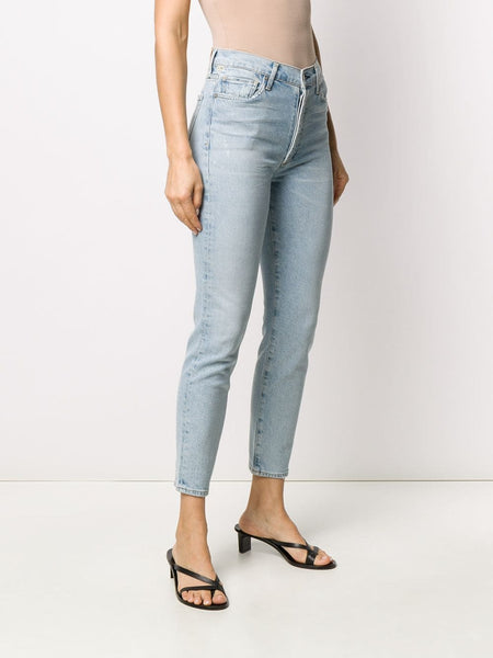 High-Rise Cropped Jeans 3/4