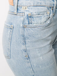 High-Rise Cropped Jeans Detail