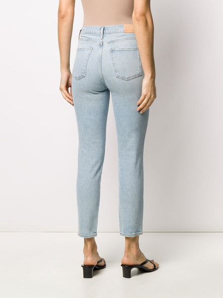 High-Rise Cropped Jeans Back