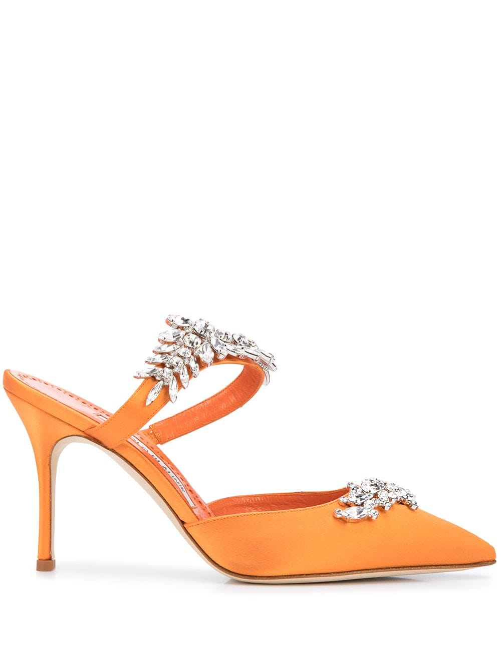 Lurum Pointed Crystal Embellished Mules