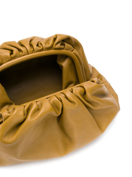 The Pouch Clutch Moutarde Open