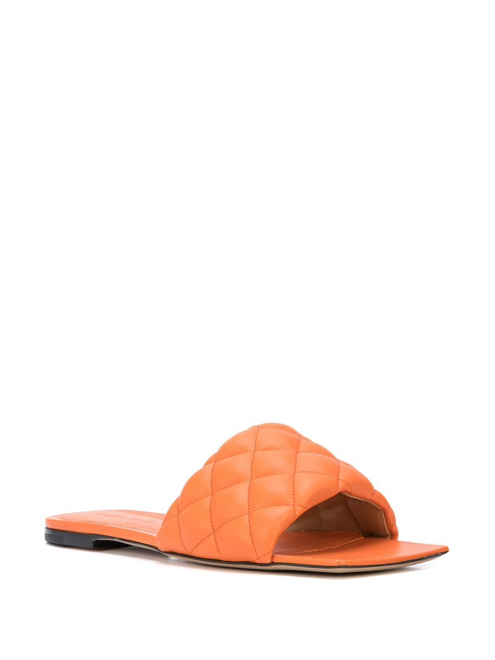 Padded Flat Sandals Coral 3/4