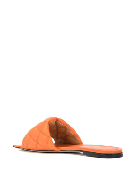 Padded Flat Sandals Coral Back