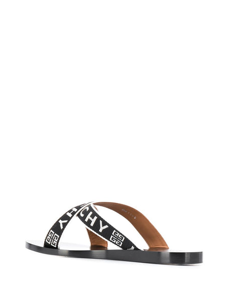 Crisscross Logo Sandals - back side view