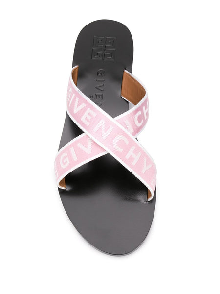 Crisscross Logo Sandals - top view