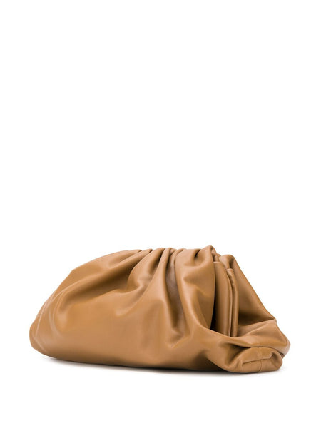 The Pouch Clutch Camel 3/4