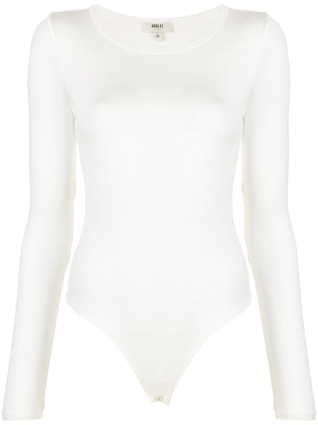 Fine Knit Long-sleeved Bodysuit