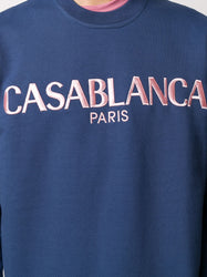 Casa Block-Logo Sweatshirt - Navy Detail