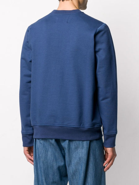 Casa Block-Logo Sweatshirt - Navy Back