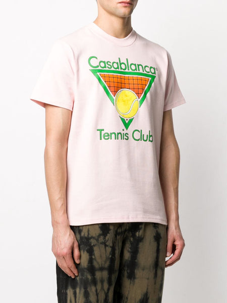 Tennis Club T-shirt - Pink Left