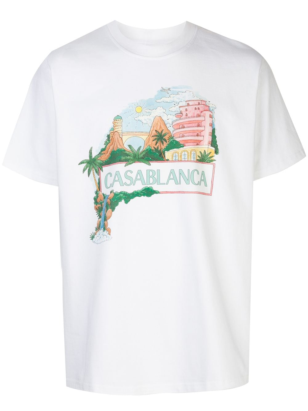 Views-Print Cotton T-shirt