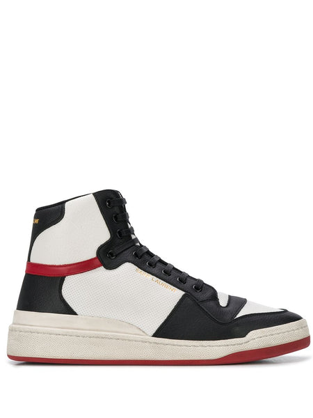 Men's SL24 Panelled High-Top Sneakers