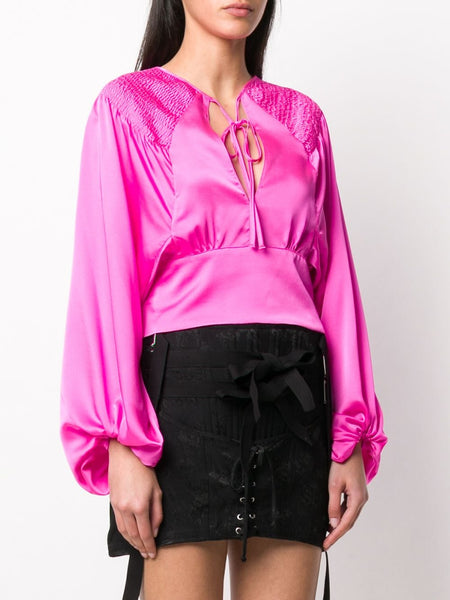 Cropped Ruched Blouse