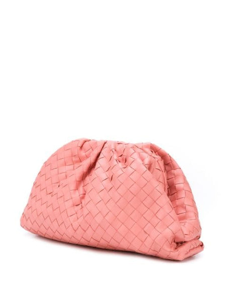 The Woven Pouch - Pink 3/4