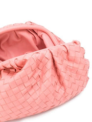 The Woven Pouch - Pink Open