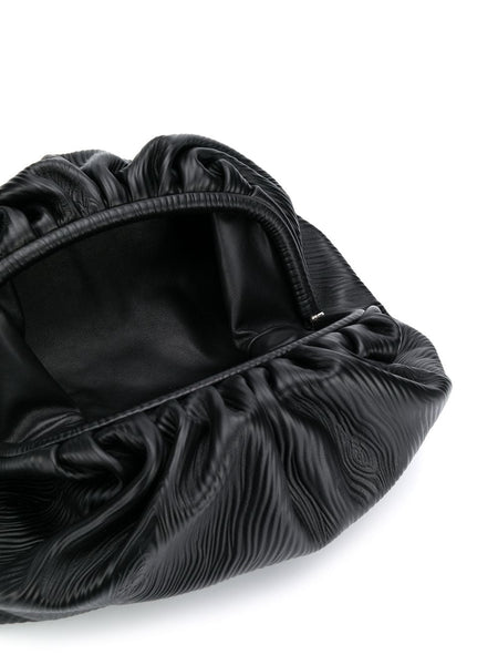 The Pouch - Textured Black Open