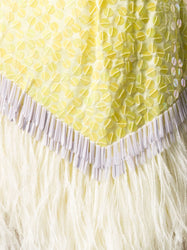The Attico Sequin Feather Skirt Detail