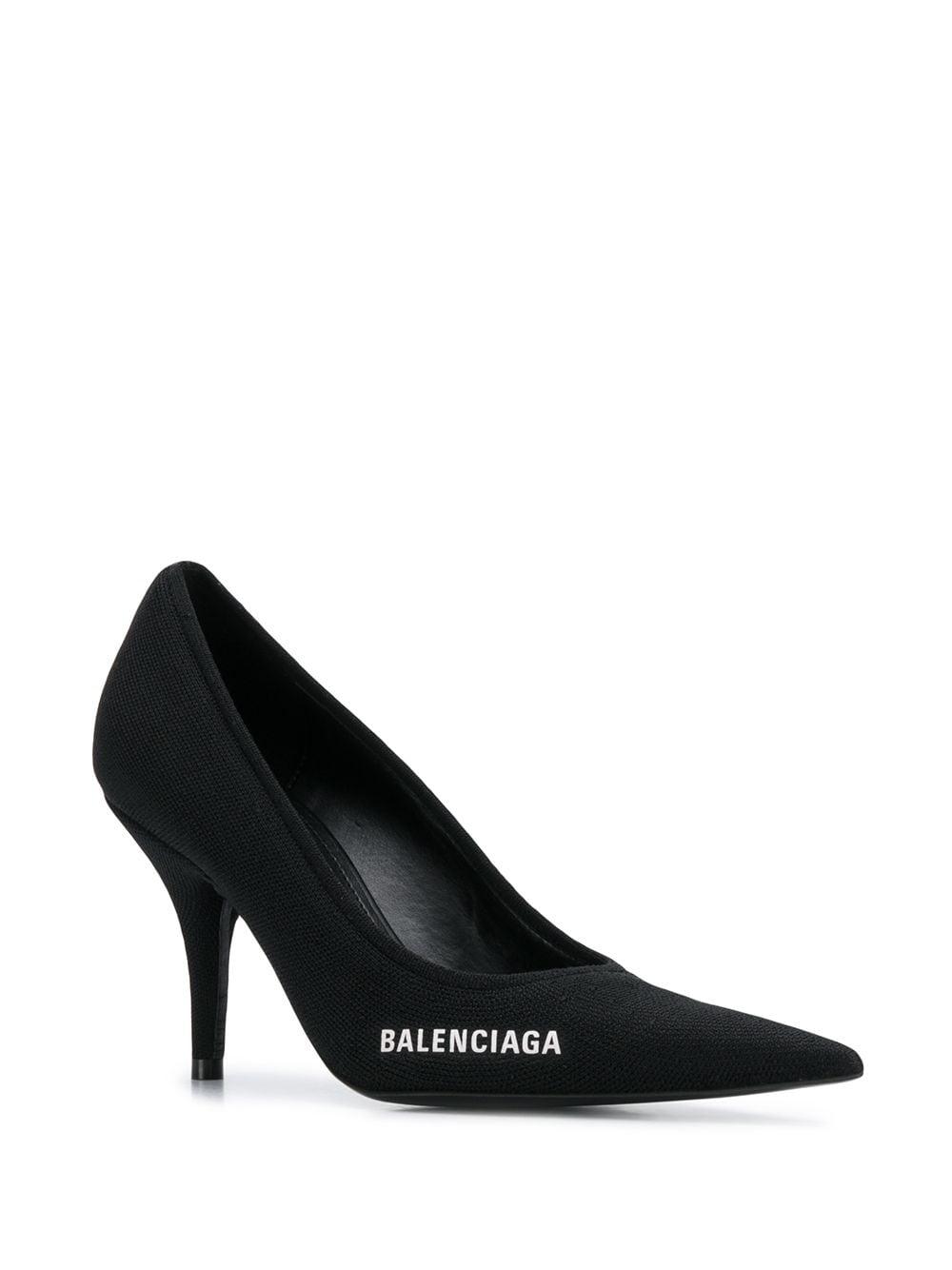 Logo Detail Pointed Toe Pumps