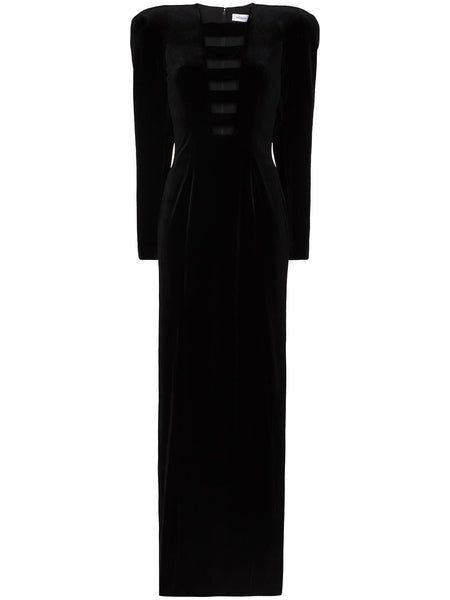 Cut-Out Velvet Maxi Dress