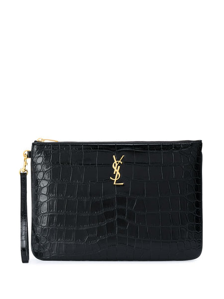 Crocodile Effect Monogram Clutch