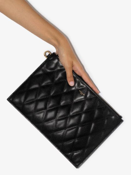GV3 Quilted Clutch Bag